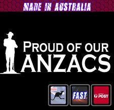ANZAC Sticker Vinyl Car Sticker - Anzac Pride Australian Lest we forget