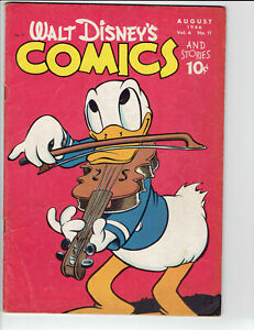 Walt Disney's Comics And Stories #71 Carl Barks 1946 Mickey Mouse Donald Duck VG