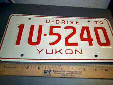 Yukon territory Canada  License plate U - Drive Issue UNIQUE car rental plate