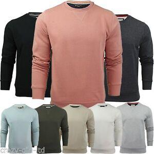 Mens Brave Soul Round Neck Overhead Pullover Jumper Sweatshirt Long Sleeve Shirt