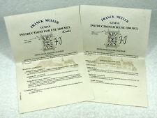 FRANCK MULLER Moon Phase Master Triple Calendar 1200 MCL Instructions Papers OEM