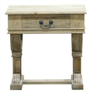 Curtis Side Table Natural Reclaimed Pine - 70x45x70cmh RRP$1237.00