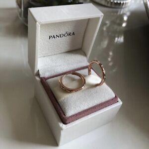PANDORA Rose Droplets Hoop Earrings - 286244CZ