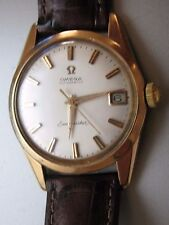 VINTAGE OMEGA SEAMASTER 18K SOLID GOLD SWISS MEN 24 JEWELS CAL 562 AUTOMATIC