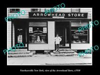 OLD LARGE HISTORIC PHOTO OF VOORHEESVILLE NEW YORK, THE ARROWHEAD STORE c1930