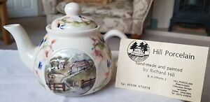 "SWEET TEAPOT HILL PORCELAIN ""COUNTRY ESTATE"" HAND PAINTED BY RICHARD HILL, DYFED"