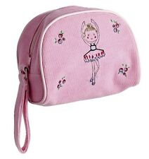 Pink Corduroy Ballet Cosmetic Bag Christmas Stocking Gift By Katz MC-7563