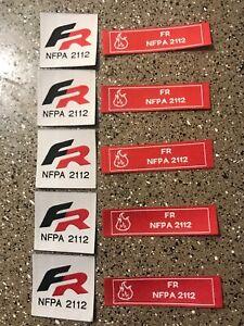 10 FR NFPA 2112 Iron On Patch / Tag Fire Retardant Pants Shirt Jacket