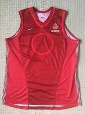 Nike Team Canada Basketball Authentic Red Jersey Sz XL nash wiggins