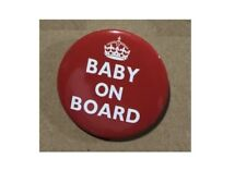 Baby on Board TFL  BUTTON PIN BADGE 38mm 1.5 INCH Pregnant London Tube Red