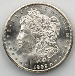 1892 CC BU GEM MORGAN SILVER DOLLAR UNC-MS++U.S. MINT RARE KEY COIN