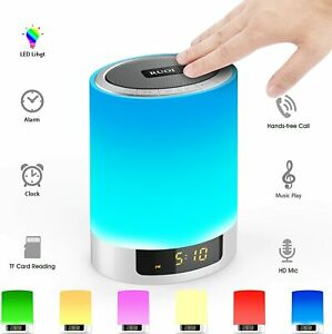 Night Lights Bluetooth Speaker, Hetyre Touch Sensor LED Table Lamp Dimmable RGB