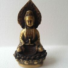 Decoration CHINESE OLD Copper COLLECTABLE HANDWORK CARVED BUDDHA STATUE