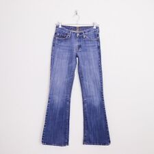 $169 7 For All Mankind Blue Signature Pocket Low Rise Flare Denim Jeans 27 30.5