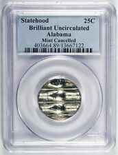 25c  ALABAMA STATE QUARTER MINT CANCELLED ERROR PCGS HOLDER