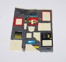 Silverbolt PARTIAL Label Sticker Decal Sheet G1 Transformers 1986