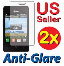 2x LG 840G LG840G Tracfone Anti-Glare LCD Screen Protector Guard Shield Cover