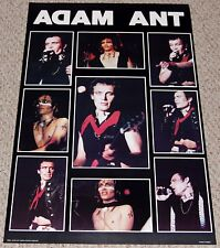 ADAM ANT In Concert Collage Poster Early 1980's Cosmographics England