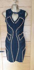 Forever Unique Bandage Dress With Beaded  Trim Size 3 UK12