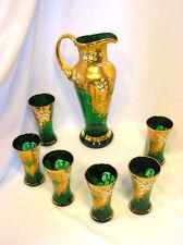 UNIQUE LUXURY GREEN SODA COCA COLA GLASS SET-02
