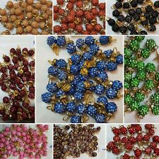 NEW SHAMBELLA CRYSTAL shocking colours buttons for Asian outfits and dresses
