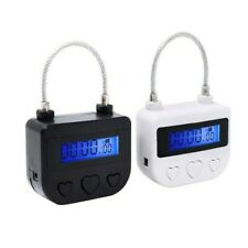 USB Timer Lock Rechargeable Padlock Switch Tool Electronic Rigid Plastic