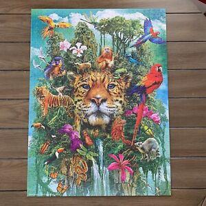 "Milton Bradley Big Ben King of The Jungle 1000 Piece Jigsaw Puzzle 27"" x 20"""