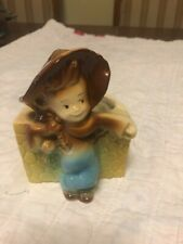 Vintage Royal Copley Farmer Boy Planter Ceramic In Excellent Condition