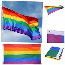 Rainbow Flag Gay Lesbian Pride LGBT Mardi Gras Party Banner Decorations 150x90cm