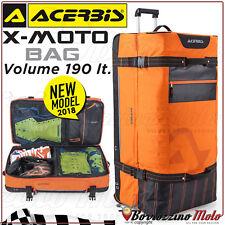 BORSA VALIGIA TROLLEY ACERBIS X-MOTO BAG ARANCIO/NERO 190 LT MOTO CROSS ENDURO