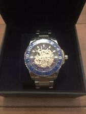 Automatic Watch, Skyline, Williston Blue Collection, Openworked, Glass Sapphire