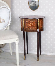 Baroque Dresser Wall Side Table Marquetry Furniture Console Wooden Antique