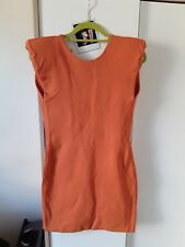 Mini Vestido Aqua por Aqua Naranja Ceñido de espalda baja UK 12