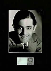 AL BOWLLY GOODNIGHT SWEETHEART SINGER AUTHENTIC SIGNED AUTOGRAPH DISPLAY UACC