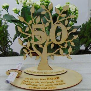 Zum 50. Geburtstag Personalisiert Geldgeschenk Gutschein Lebensbaum aus Holz