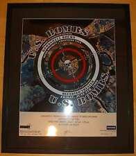 2006 U.S. Bombs - Nola Variant Silkscreen Concert Poster by Emek S/N Framed!