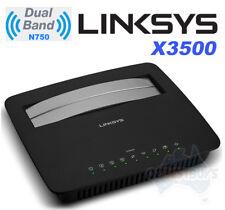 Linksys X3500 Wireless N750 Dual-Band Wi-Fi Gigabit ADSL2+ Modem Router with USB