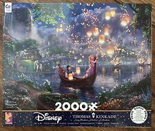 """2000 Piece Jigsaw Puzzle TANGLED Rapunzel Disney Thomas Kinkade 38"""" X 26"""" NIB"""