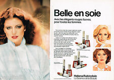 PUBLICITE ADVERTISING 055  1977  HELENA RUBINSTEIN maquillage  vernis rouge (2p)