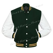 Genuine Leather Sleeve Letterman College Varsity Men Wool Jackets #WSL-GDSTR-WB