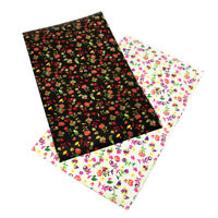 20*34 cm Floral Synthetic Leather Fabric Sheets DIY Handmade Craft Hair Bows