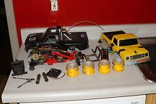 vintage tamiya blackfoot original body chassis rims rc car truck r/c parts lot