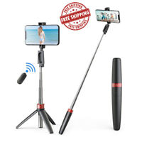 Universal Tripod Stand Telescopic Camera Phone Holder For iPhone Sony Samsung