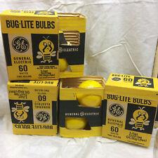 6 Yellow Bug Lite Bulbs 60 Watts General Electric