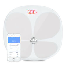 Bluetooth LCD Digital Smart Scale Body Weight Fat BMI Analyzer APP AB069