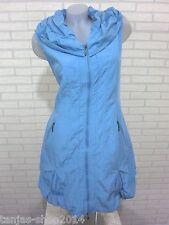 NEU Lange Weste Kleid Tunika Longshirt Blau Gr 44 (R3272N) GLAMZ FRANSTYLE