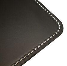 Leder Schreibtischunterlage NOBLE schwarz 60x40 cm glattes Upcycling Echtleder