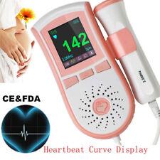 FDA Fetal Doppler 3M Probe Ultrasound Prenatal Fetus Heart Rate Monitor Safe USA
