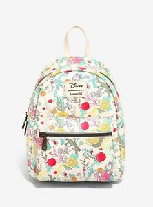Enlarge LOUNGEFLY DISNEY BEAUTY AND THE BEAST FLORAL CHARACTER MINI BACKPACK