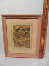 Vtg. FRANCIS LEE JAQUES THE RUFFED GROUSE  ~ North American Games Print  Framed